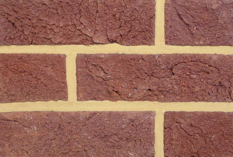 Coleford mixed burgundy red brick colour sample