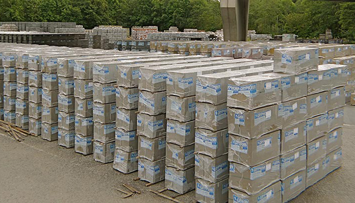Rows of Gryphonn Concrete paving slabs