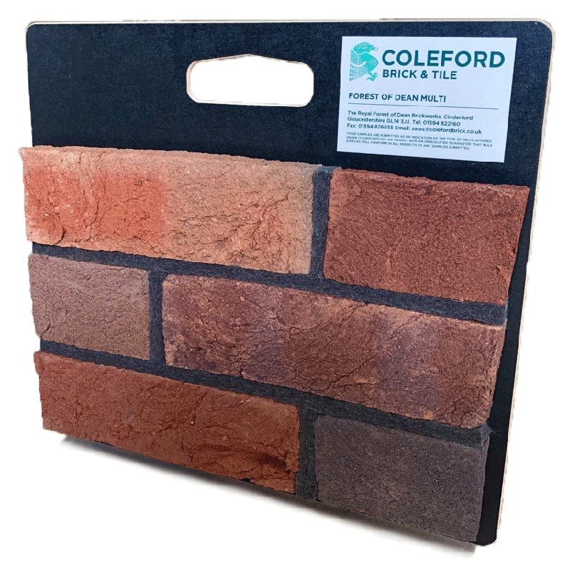 Brick sample panel ready for sending to client